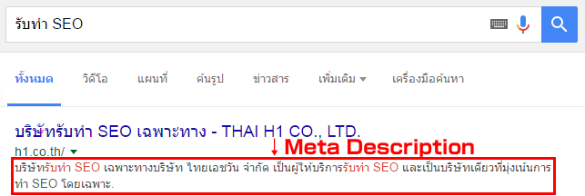 SERP-meta description