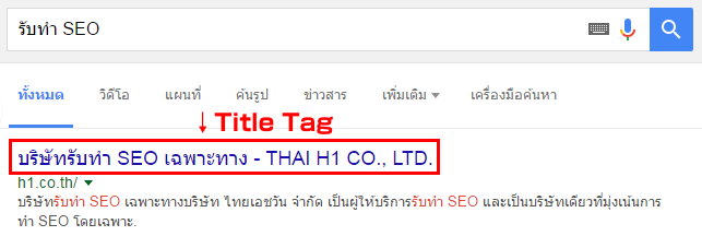 SERP-title tag